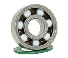 16 inline/Rollerblade Skate Ceramic Bearing Sealed Ball Bearings VXB Brand by VXB. $55.48. This sealed inline/rollerblade skate bearing has deep groove geometry for high speeds and supporting both radial and axial loads. This bearing is made of chrome steel for durability and resistance to deformity under heavy loads, and it has non-contact seals that fasten to the outer ring on both sides of the bearing to keep lubricant in and contaminants out. The zirconium ...
