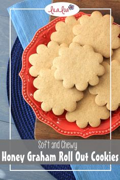A soft and chewy no-chill and no-spread honey graham roll out sugar cookie recipe that is perfect for decorated cookies.