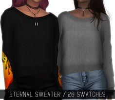 Sims 4 CC's - The Best: ETERNAL SWEATER by Simpliciaty