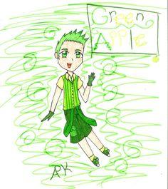 Green Apple by AnimePandaKawaii