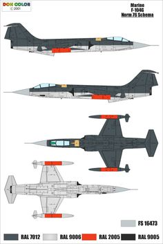 F-104G Marine Norm 76 camouflage scheme
