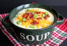 Loaded Baked Potato Soup.  Hope it is as good as what Bennigan's serves! Just have to make it to find out  :)