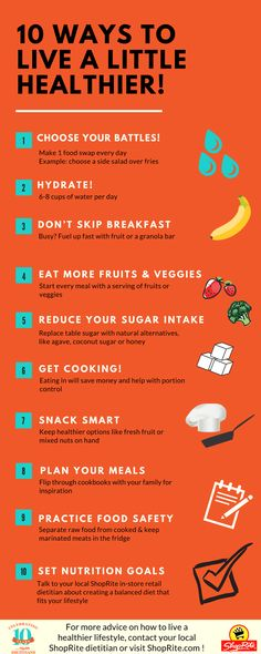 be94ae0fb71 Our Dietitians share their Top 10 Tips for living a little healthier each  and every day!