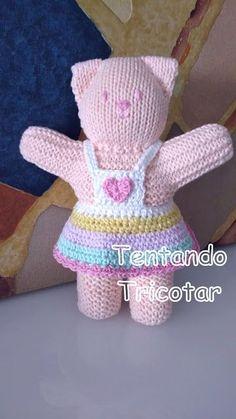 Trying to Knit - Spielzeug Baby Knitting Patterns, Knitted Doll Patterns, Baby Hats Knitting, Knitted Dolls, Free Knitting, Knitted Bunnies, Knitted Teddy Bear, Crochet Bunny, Crochet Toys