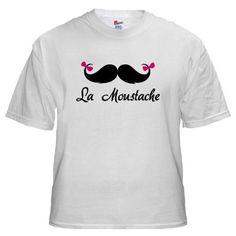La moustache White T-Shirt