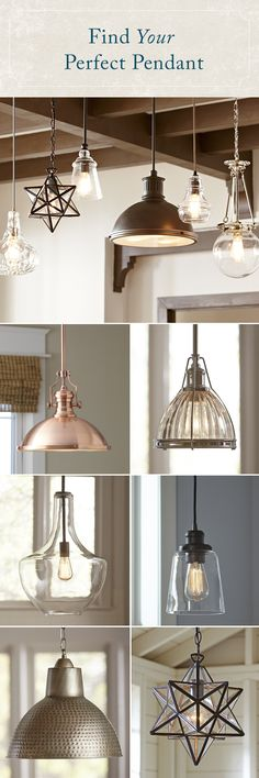 Whether you're looking for a statement piece or simply want to brighten up your space, a pendant will shine a new light on your look. Featuring styles that mix traditional influences with modern-day silhouettes and finishes, Birch Lane's selection of pendant lighting has an option for everyone.Sign up now to learn more! Best of all, every order over $49 Ships Free! Birch Lane Lighting, Farmhouse Pendant Lighting, Island Pendant Lights, Island Lighting, Traditional Pendant Lighting, Updated Kitchen, Kitchen Remodel, Kitchen Decor, Kitchen Design
