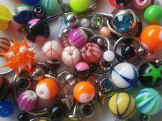 250 Ersatzteile-Set Piercing gemischt Piercings Piercingkugeln Piercingpaket Neu