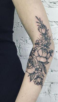 """Résultat de recherche d'images pour """"tattoo flower black and white"""""""