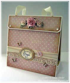 Whiff of Joy - Tutorials & Inspiration: Geschenktasche mit Innengestaltung / Gift bag with interior design by Dunja Dücker