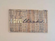 Give Thanks Pallet Project