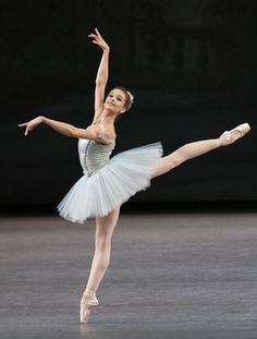 Lauren Lovette in George Balanchine's Raymonda Variations (Paul Kolnik, courtesy NYCB)
