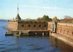 Leningrad. De Petrus- en Paulusvesting. Oude postkaart.