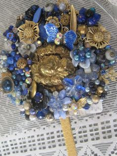 Vanity mirrors designed with upcycled vintage jewelry. Visit LunasVintageDesigns at ETSY. Convo me for a discount.