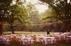 DIY outdoor wedding | outdoor wedding lights | wedding ideas ...