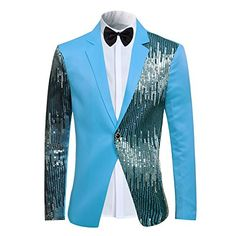 Men's Suit Casual One Button Slim Fit Blazer Stylish Sport Coat & Trousers: guarantee the style is the same as shown in the be aware that colors might look slightly different in person due to camera quality and monitor settings. Mens Fashion Suits, Mens Suits, Men's Fashion, Fashion 2018, Fashion Tips, Fitted Prom Suits, Blazer Shirt, Designer Suits For Men, Men Style Tips