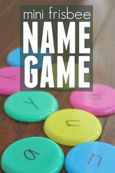 Toddler Approved!: Mini Frisbee Name Game