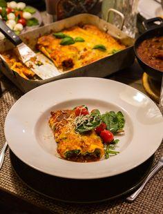Cannelloni med ricotta och spenat - ZEINAS KITCHEN Ricotta, Mozzarella, Pasta, Marinara Sauce, Meal Planner, Sauce Recipes, Parmesan, Quiche, Vegetarian Recipes