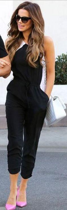 Kate Beckinsale: Jumpsuit – Parker  Purse – Chanel  Sunglasses – Stella McCartney
