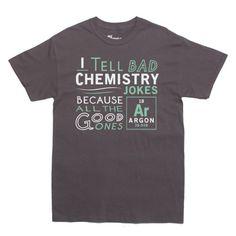 Rocket Factory Argon Chemistry Joke Science T-shirt Men's Sizes Charcoal Large - http://geekyshirtsdepot.com/rocket-factory-argon-chemistry-joke-science-t-shirt-mens-sizes-charcoal-large/