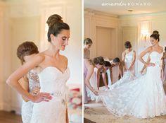 #EnzoaniRealBride Cara in #Enzoani Diana wedding dress | Amanda Donaho Photography