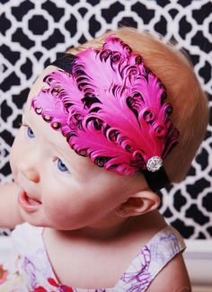 Feather Stretch Headband for little one