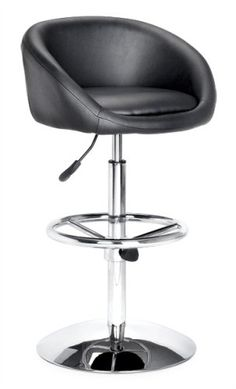 Zuo Modern Concerto Barstool, Black Zuo Modern-made elegant barstool for contemporary décor. Washable leatherette seat cushion and back; chrome-plated steel frame with adjustable foot rest. Hydraulic piston adjusts seat heights from 26 to 30 inches; 360-degree swivel seat. Available in black or white; basic home assembly required. Measures 17-1/2 inches wide by 17-1/2 inches deep by 34 to 38 inch... #zuo #Home