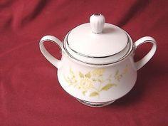 Noritake, China Dinnerware Laura Pattern #: 2694 Sugar bowl w/lid