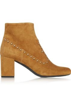 SAINT LAURENT Studded suede ankle boots £556.50 http://www.theoutnet.com/products/512414