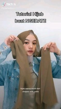 Stylish Hijab, Casual Hijab Outfit, Ootd Hijab, Simple Hijab Tutorial, Hijab Style Tutorial, Diy Clothes Life Hacks, Teen Life Hacks, Modern Hijab Fashion, Hijab Fashion Inspiration