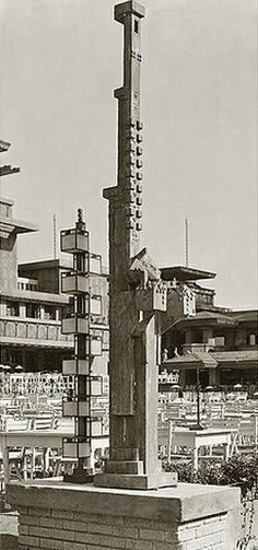 Frank Lloyd Wright, Midway Gardens, Chicago, Illinois, 1914. Demolished 1929. Sculptures by Alfonso Iannelli. photos by Henry Fuermann &...