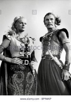 Anita Ekberg & Jack Palance portray the roles of ''Hulina'' & ''Ogatai'' in the film ''I Mongoli-The Mongols'' a 1961 Italian/French international co-production historical adventure movie. Jack Palance, Anita Ekberg, Adventure Film, Arabian Nights, Classic Films, New Movies, Actresses, Stock Photos, Fan