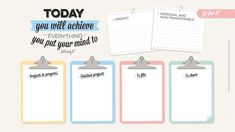Clipboards Achieve quote desktop organizer wallpaper background - love this!