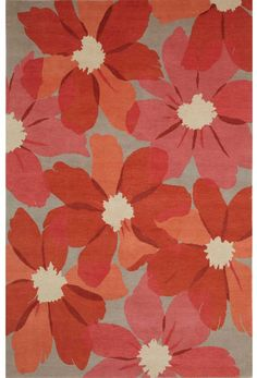 COSMOS - EMMA GARDNER DESIGN - GoodWeave certified child-labor-free rug - #contemporary #Floral #Asian