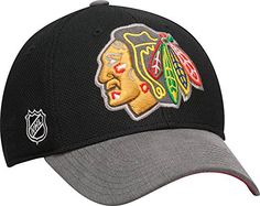 Chicago Blackhawks Reebok Multi Team Colors Playoffs Flex Fit Cap (Small/Medium)