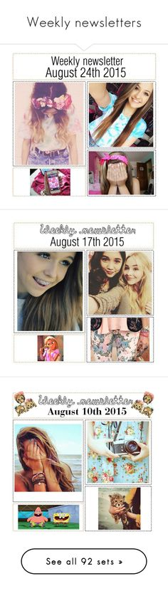 """""""Weekly newsletters"""" by victoria-pittore ❤ liked on Polyvore featuring art, polyvorecommunity, polyvoreeditorial, fall2015, winter2015, Winter2016, spring2016, Spring, Summer and summer2016"""