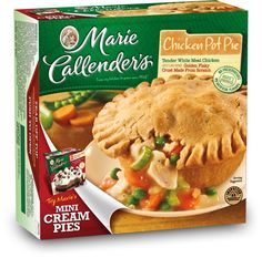 2 NEW Marie Callender's Product Coupons Include: Marie Callender's Frozen Multi-Serve Meal or Family Size Chicken Pot Pie, Marie Callender's Single-Serve Frozen Meals Copycat Recipes, Gourmet Recipes, Cooking Recipes, Marie Callender Chicken Pot Pie Recipe, Supper Recipes, Supper Meals, Frozen Meals, Restaurant Recipes, Favorite Recipes