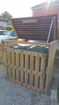 Pallet Garbage Bin Storage Shed More