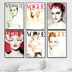 Nordic Poster Modern Fashion 11 pcs Best Canvas Art Wall Portrait home decor VOGUE 1950 Magazine Cover Painting Hepburn Prints Best Canvas, Canvas Art, Canvas Prints, Cheap Paintings, Spray Painting, Modern Fashion, Vogue, Magazine, Wall Art
