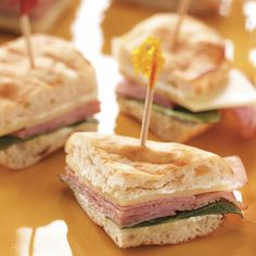 Tea Sandwich Recipes - Looking for the perfect sandwich recipe for a shower or afternoon party? Our collection of tea sandwich recipes includes luncheon favorites like cucumber sandwiches, crab, chicken salad and more. Cold Appetizers, Finger Food Appetizers, Appetizers For Party, Appetizer Recipes, Sandwich Appetizers, Shower Appetizers, Brunch Recipes, Tapas, Pita Recipes