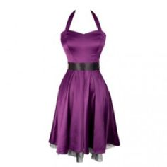 Cute Purple Satin Dress