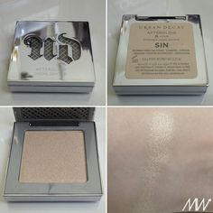 Urban Decay Afterglow Highlighter - Sin #urbandecay #swatches #highlighters