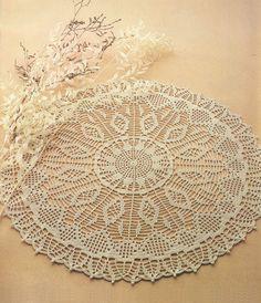centro rotondo elegante | Hobby lavori femminili - ricamo - uncinetto - maglia