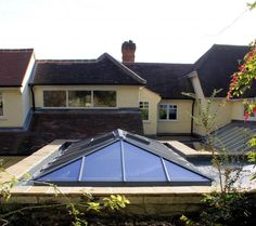 Bespoke roof lantern - designed to allow forr extra light in the extension underneath