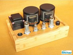 154.00$ Buy now - http://ali8g3.worldwells.pw/go.php?t=32656520416 - Tube Amplifier Class A Single-ended 2X3.8W 6J1 Drive 6P1 All Retro-style Bamboo-wood Casing Scaffolding Soldering Process HIFI