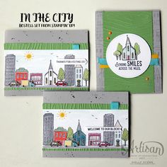 Holly's Hobbies: Sneak Peek at the all new In the City hostess set from @Stampinup.  Create your own little city scene with 60 photopolymer stamps! Cuteness overload!