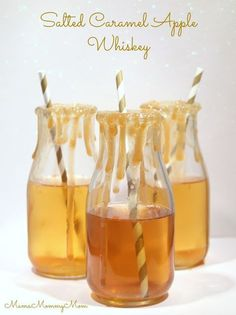 Salted Caramel Apple Whiskey Cocktail -