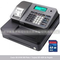 cajasregistradoras.com les ofrece la nueva Caja Registradora Casio SE-S100 en color Plata + Tarjeta Memoria SD 4GB x solo 199€ IVA incluido. 21h