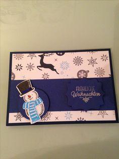 Stampin Up! Weihnachtskarte Schneemann