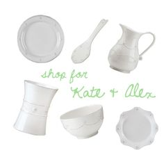 Kate Pendleton & Alex Doriot - Shop their Entire Registry @ http://www.charlestonstreet.com/registry.asp?action=view&id=2159