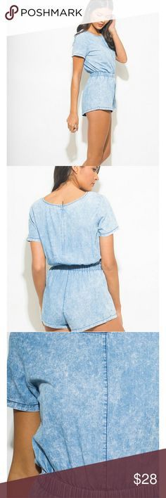 Denim jumpsuit Super cute jean jumpsuit! You will look awesome I'm this! Item as shown in pictures above Tops